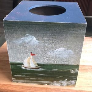 Other - Tissue box holder hand painted